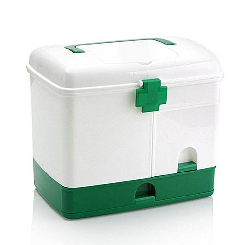 Household 3 Layer Medicine Drawer Health Box First Aid Storage Bin