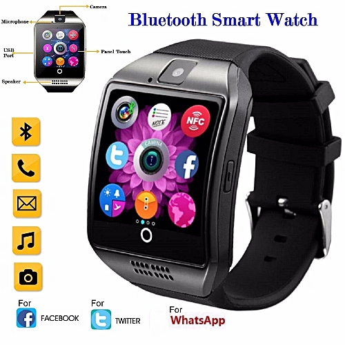 Smart Watch With Touch Screen Support TF Sim Card For Android Phone_Black