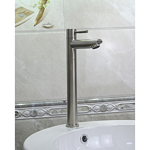 Bathroom Sink Faucet Cold Water Tap Modern Stainless Steel