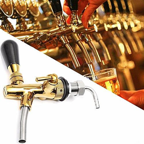 Adjustable Draft Beer Faucet G5/8 Shank W/ Chrome Gold Plating For Kegerator Tap