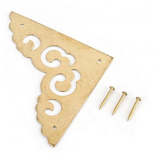 4pcs Wood Box Jewelry Gift Case Corner Decorative Protectors Edge Cover Guard