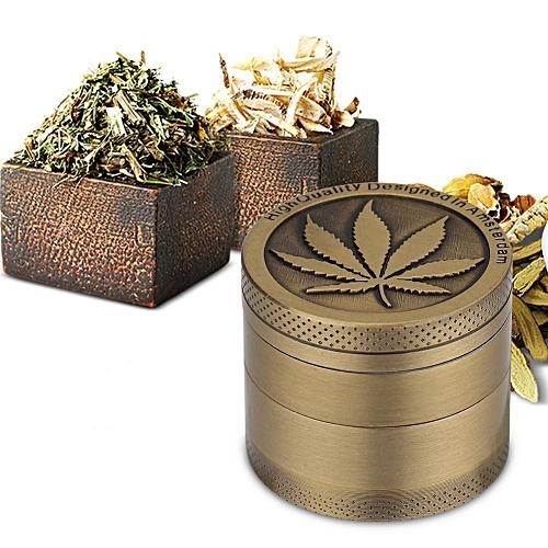 Leaf Designed Zinc Alloy Colorful Metal Grinder Herb Crusher