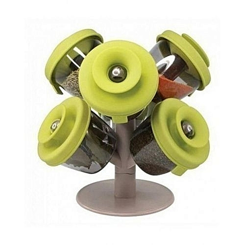 Spice Rack For Kitchen Cooking Spices- Green