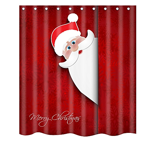 Dtrestocy Christmas Waterproof Polyester Bathroom Shower Curtain Decor With Hooks New