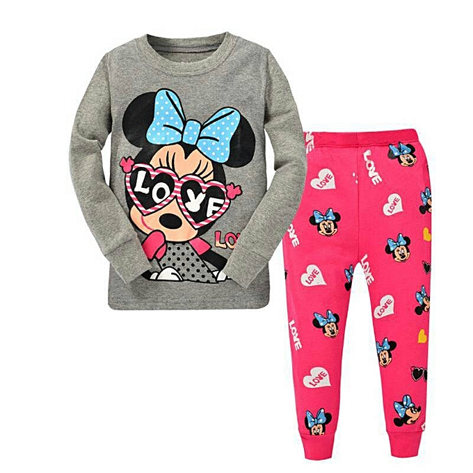 Buy PHOEBE Grey&Pink Minnie Mouse Pyjamas For Girls @ Best Price ...