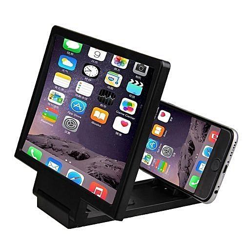 3D Mobile Phone Screen Magnifier HD Video Amplifier For Smartphones (Black)