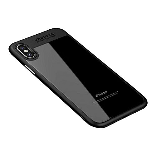 For IPhone X Case, IPhone XCase, Clear Hard Scratch Resistant Back Cover With TPU Rubber Cover For IPhone X Case