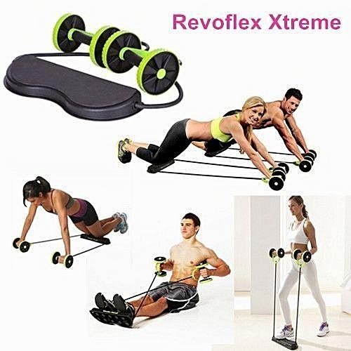 Revoflex Xtreme Tummy Exercise Machine Workout Bi-directional Abs Wheel.