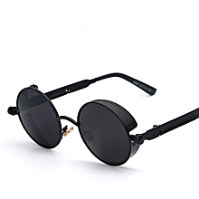 f6cff5524ebf Mirror Lens Round Glasses Goggles Steampunk Sunglasses Vintage Retro For  Men And Women Hisper Eyewear(