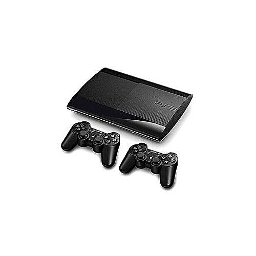 Ps3 Super Slim Console 500GB With 20 Downloaded Games Including FIFA19+2 Controller