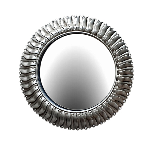 Stone Fitted Wall Mirror-Champagne