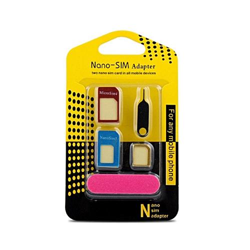 5 In 1 SIM Sleeve Adapter Adaptor Kit Converter Set For Phone Accessories