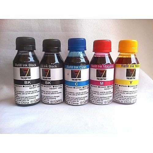 Refill Ink Set For Hp, Canon, Brother, Epson Refillable Cartridge - Set Of 5