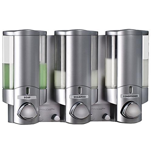 KCASA KC-DK03 Three Chamber Dispenser Wall Mounted Bathroom Lotion Shampoo Liquid Soap Dispenser Set