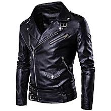 eb32fe50709816 Large Size Men  039 s Leather Jacket Motorcycle Leather Jacket
