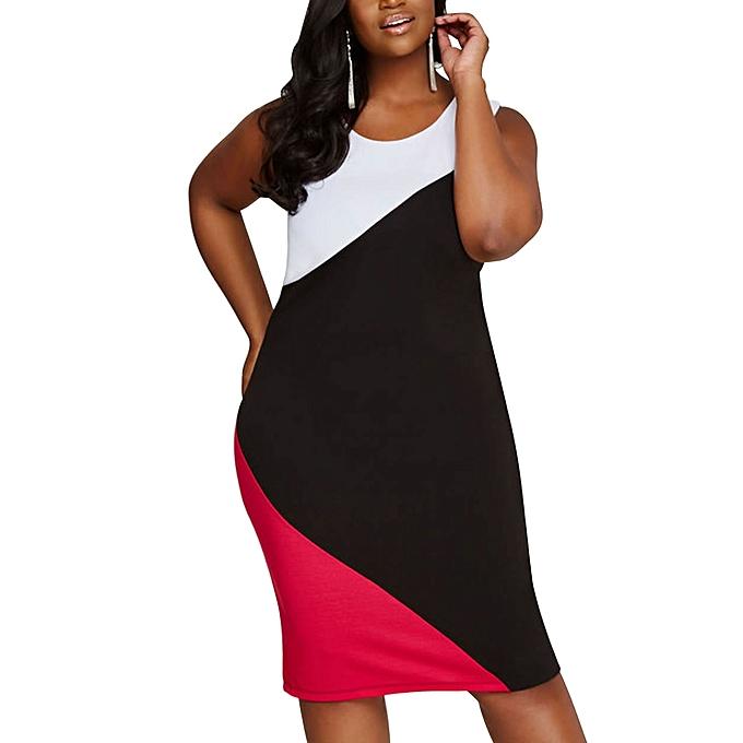 78e970ce52 Tank Dresses Summer Office Lady Elegant Bodycon Dress Plus Size 6XL 5XL 4XL  XXXL Casual Sleeveless