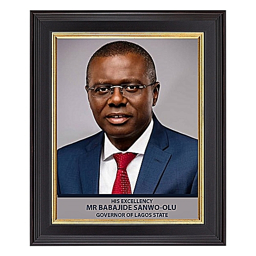 Picture Frame Of Lagos State Governor 12*16
