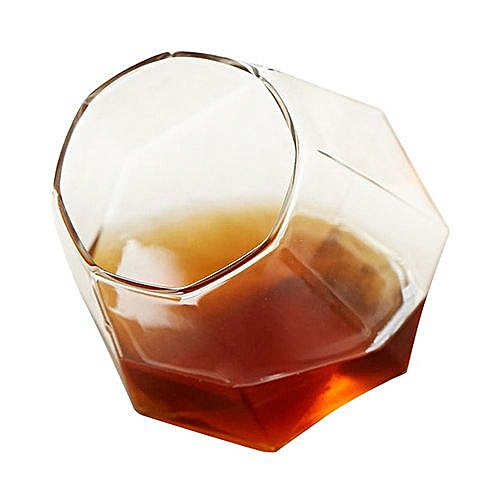 Creative Diamond Shape Design Wine Glass-Transparent