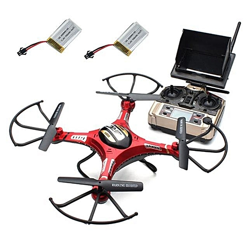 JJRC H8D RC Quadcopter Drone 5.8G FPV HD Camera+Monitor+2 Battery Xmas Gift (As Shown) XJMALL