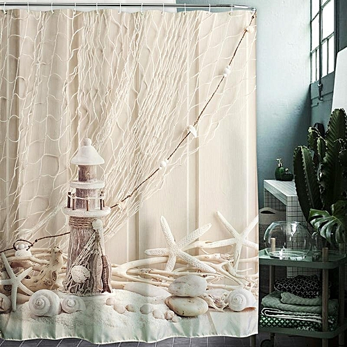 Waterproof Mildew Shower Curtain 3D Digital Oil Painting Printing 150x180cm