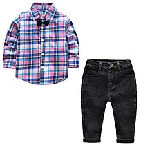 c9f492746ebb Fashion Boys Top And Pant With Bow Tie For 2 To 9 Year Old