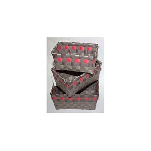 Checkered Woven Mini Basket