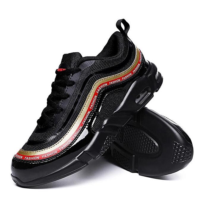 7ec06866b83 Men s Black Korean Fashion Sports Sneakers Light Running Shoes Breathable  Mesh Shoes Large Size 39-