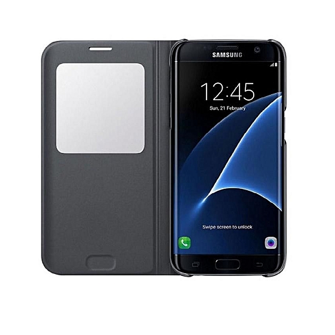 classic fit 7cf88 ff892 Samsung Galaxy S7 Edge S-View Flip Cover Case
