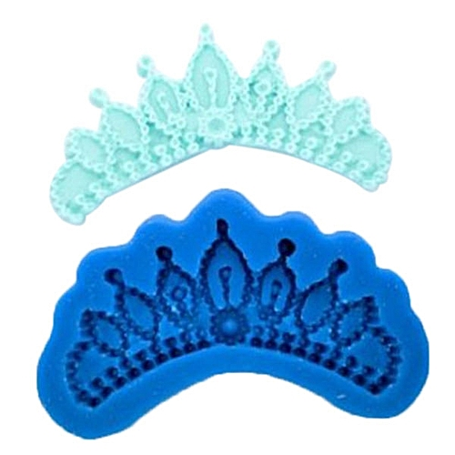 Silicone Cake Mold Crown Fondant Chocolate Decorating Mould Cooking DIY