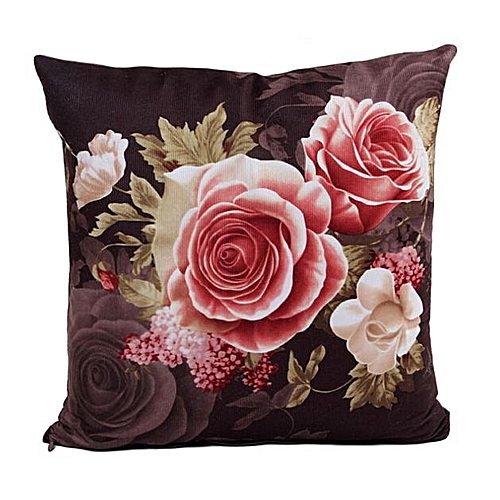 Printing Dyeing Peony Sofa Bed Pillow Cushion Cover