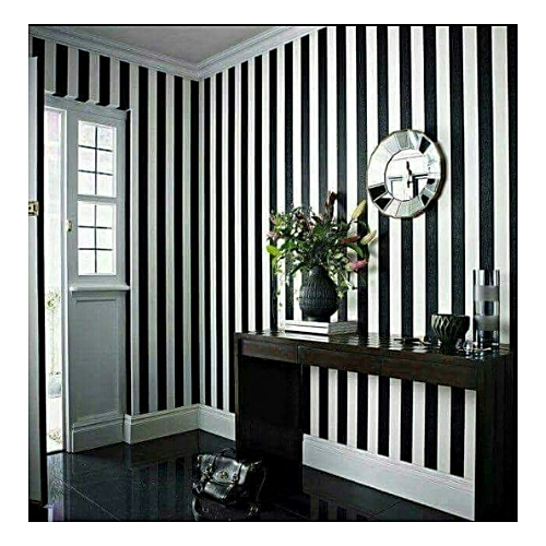 Generic Wallpaper - Stripe Design Wallpaper Black & White