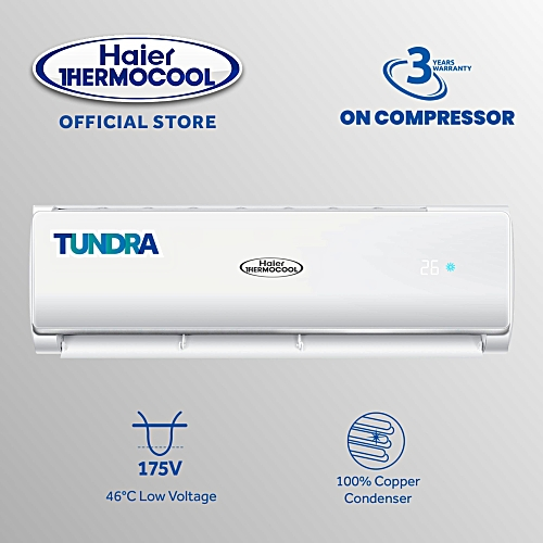 1HP Tundra Air Conditioner + Installation Kit White