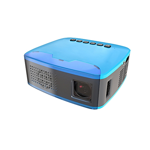 """MY20 Mini Portable LCD Projector 400 Lumens Full HD 1080P 110"""" LED Movies Video Multimedia Projection Machine For Family Education School Business Use Home Theater US Plug"""