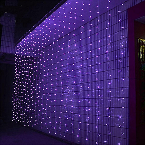 300 LED Curtain Lamp Bulb Icicle Waterfall String Fairy Light Xmas Wedding 3Mx3M