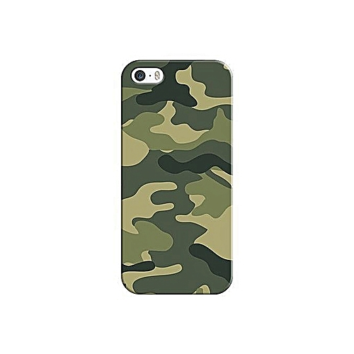 sports shoes 51553 0d8f4 IPhone 5s Camouflage Back Case, With Screen Protector Glass.