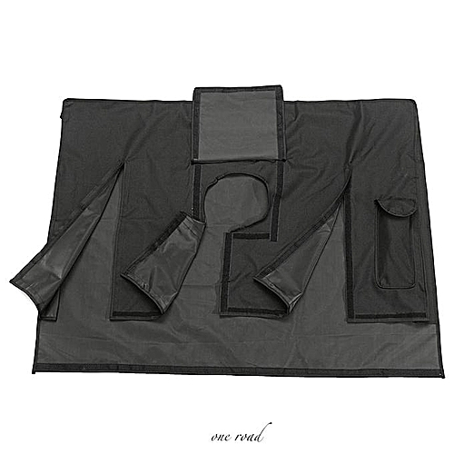 Black Waterproof Oxford Outdoor Cover For 60-65 Inch