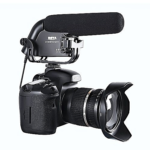 Boya Video Condenser Shotgun Camera + Interview Microphone