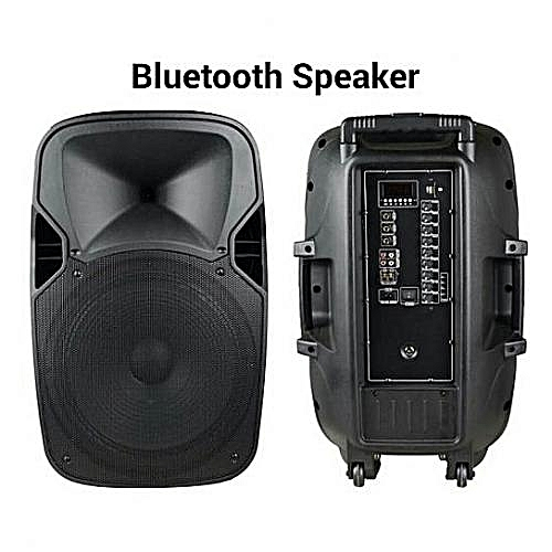"""Rechargeable Trolley Speaker With Two Wireless Microphones & Bluetooth 8 """"inch"""