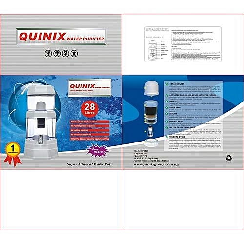 Water Purifier Filter And Dispenser - (28 Litres)