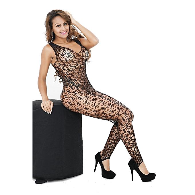 5f55a2ff178 ... Fashion  Sexy Women Fishnet Sheer Open Crotch Body Stocking Bodysuit  Lingerie ...