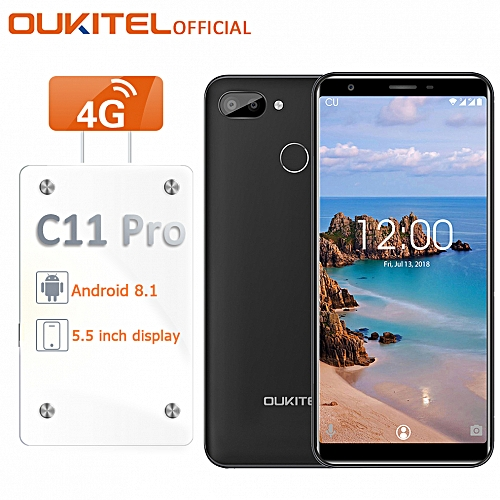 "C11 Pro - 5.5"" Android 8.1 3GB+16GB 2SIM 3400mAh Fingerprint EU - Black"