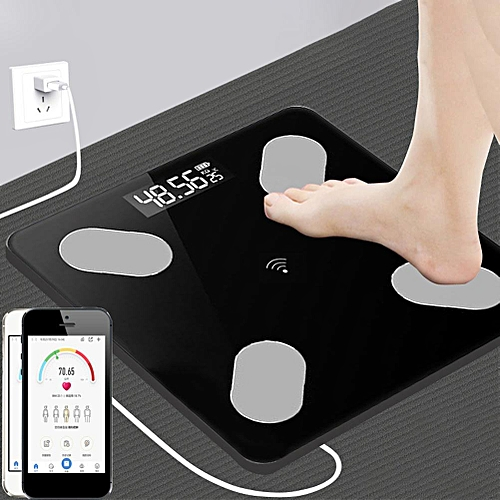 Home Smart Body Monitor LED Display Bluetooth APP BMI Weighing Electronic Scale ( )