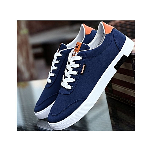 Men's Lace-up Canvas - Blue