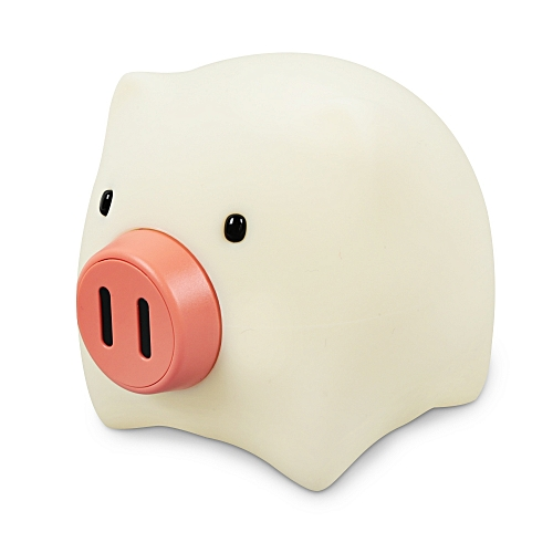 USB Charging Relaxing Toy Creative Silicone Pig Night Light For Kids