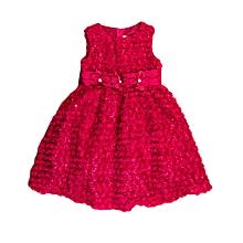 63ce576ee42 Girl  039 s Sleeveless Sequin Flower Detailed Midi Dress With Trippled  Stoned Flower Belt