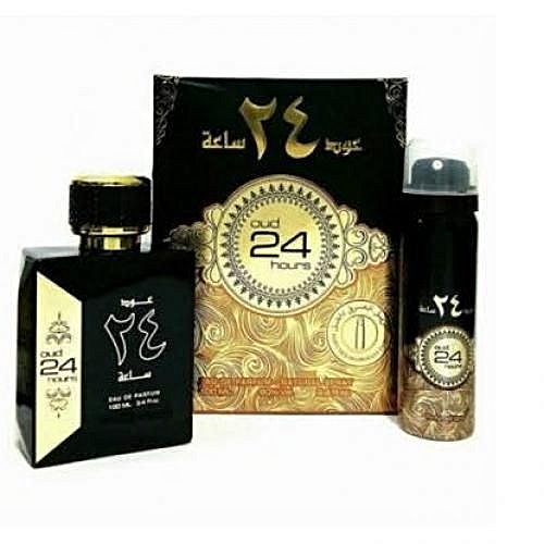 Oud 24 Hours Arabian EDP 100ml Plus A Free Spray Inside