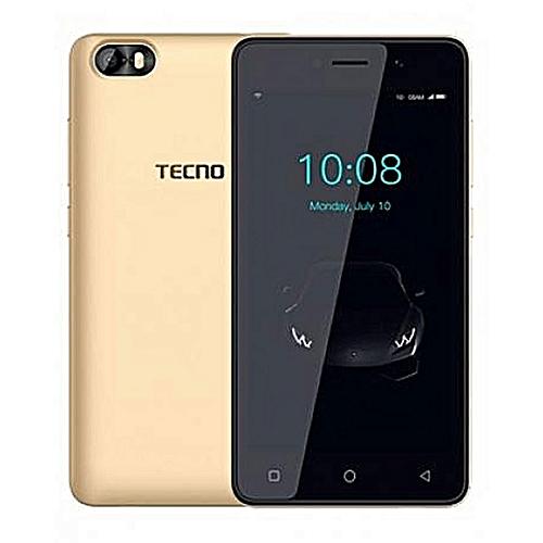 F1 5-Inch (1GB, 8GB ROM) Android 8 Oreo (Go Edition), 5MP + 2MP Dual SIM 3G Smartphone - Champagne Gold