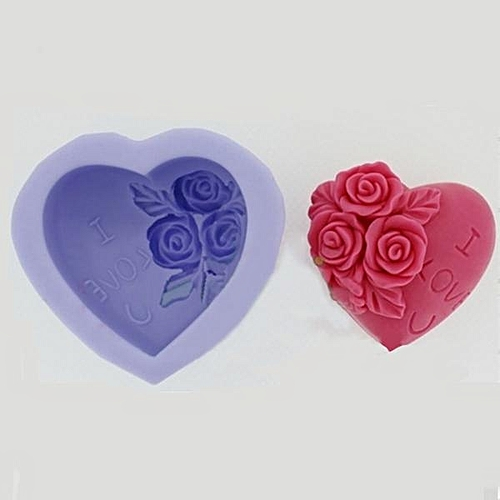 R0227 Silicone Three Rose Fondant Cake Mould DIY Soap Mould