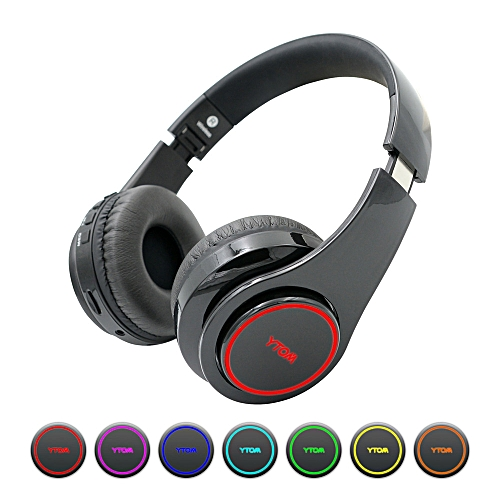 Auto-Switch 7 Color-changing Wireless Bluetooth Headset Sport Card Headphone