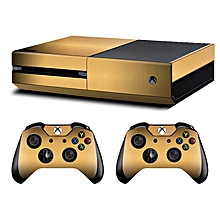 Full Gold Protective Cover Decal For Xbox One Console + Kinect + Controllers Skin Stickers Vinyl Game Sticker(# ) for sale  Nigeria